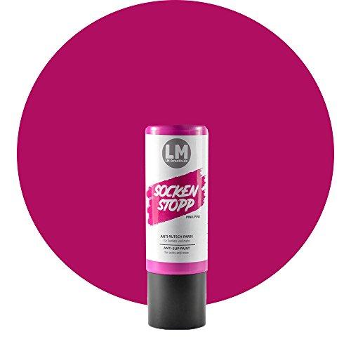 Laurenz & Morgan Socken Stopp 82ml (Pink) Socken Stopp Anti Rutsch, ABS Antirutsch, Sock Stop Creme, flüssige Sockensohle, Rutsch-Stop, Sockenstopper Farbe