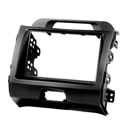 FangFang 2 DIN 11-104 autoradio Etereo montaggio adattatore di montaggio fascia adatto per KIA Sportage (SL) 2010-2016 telaio audio fascias (nome colore: nero)