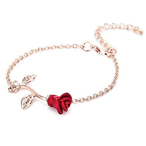 GDSKL Bracelets Bracelet Cuff Ring,Female Sculpture Refined Accessories Fashion Adjustable Gift Anklet Anniversary/Rose Gold / 21cm