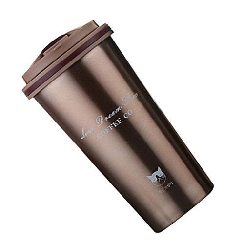 rongweiwang 500ml Edelstahl-Vakuum Cup Cup Wasserflasche Kaffeetasse PP Food Grade Vakuumversiegelung driking Wasserflasche