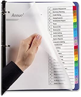 Wilson Jones MultiDex Pro Index Dividers, A to Z, 26 Tabs per Set, Letter Size, Multi-Color (W54733N)