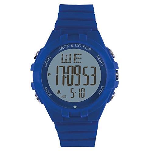 Jack & Co Pop–Reloj digital de silicona