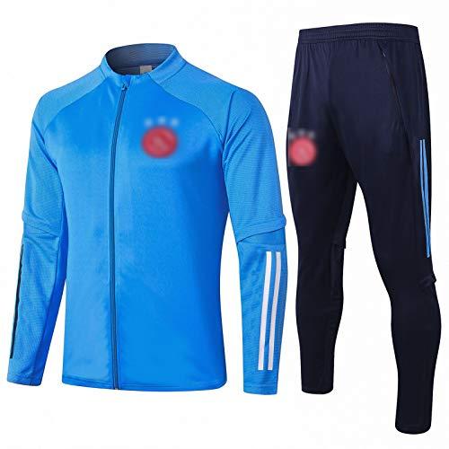 OJN 20 21 Niederlande Fußball-Training Wear Stehkragen Sport Erwachsener Jugend Unisex Anzug atmungsaktiv und schnell trocknend (S-XXL) Blue-M