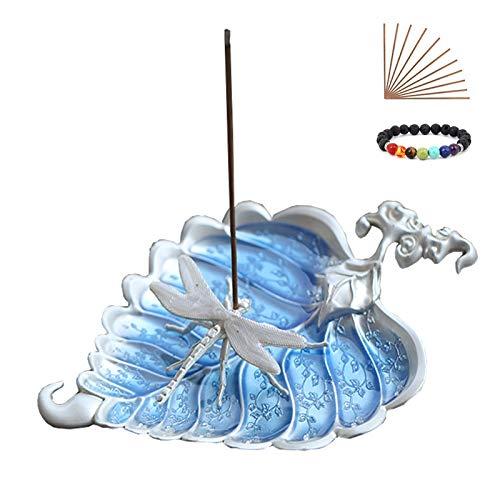 Soporte único para varillas de incienso, bonito quemador de incienso de animales, soporte decorativo para platos para joyas