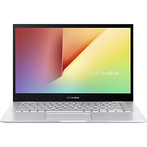 ASUS VivoBook Flip 14 TP470EA#B08CV8G31G, Notebook in alluminio, Monitor 14' Touchscreen FHD Glossy, Intel Core 11ma generazione i3-1115G4, RAM 8GB, 256GB SSD PCIE, Windows 10 Home S, Argento
