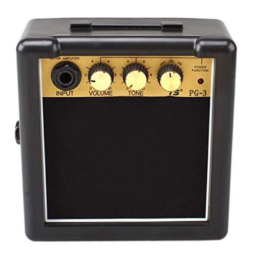 SISHUINIANHUA 3W portátil Mini Amplificador de Guitarra eléctrica Negro y Oro Adecuado...