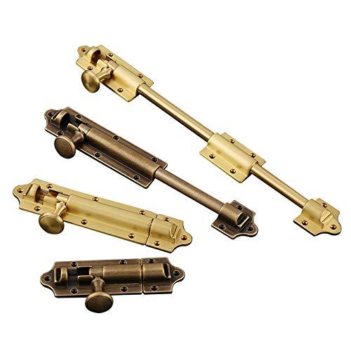 Pestillo de cobre de la puerta, pestillo de puerta antirrobo a presión, pasador partido, extendido-B * Longitud total 20 * Extender 1.8