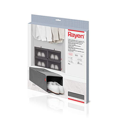 Rayen | Cajas Apilables para Zapatos | Pack de 2 unidades | Cierre con Velcro | Gama Premium | Dimensiones: 23 x 34 x 16 cm