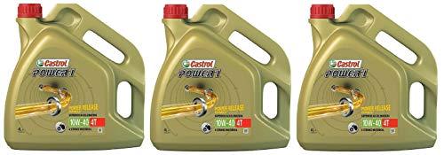 Castrol POWER 1 4T 10W-40 semi-synthetische motorfiets motorolie, 12 liter