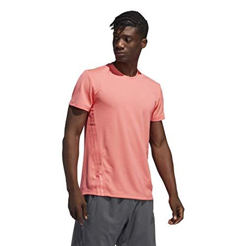 adidas Aeroready 3-Stripes Camiseta, Semi Rojo, 3XL para Hombre