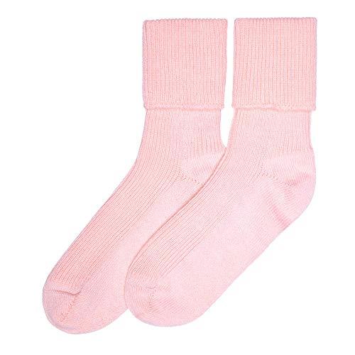 Lona Scott Damen Kaschmir Socken, Rosa