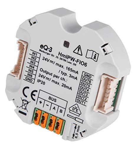 Homematic IP Wired 6-fach-Unterputz-IO-Modul HmIPW-FIO6