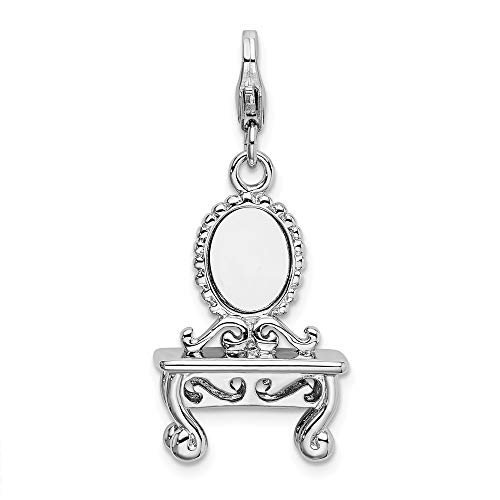925 Sterling Silver Amore La Vita 3 D Vanity Pendant Charm Necklace Fine Jewelry For Women Gifts For Her