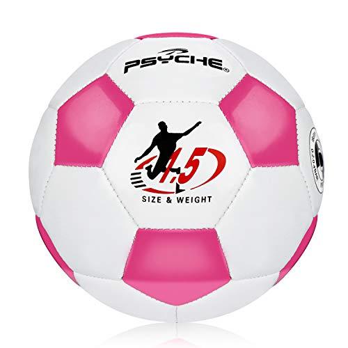 Kinder Fußball Ball Toy Balls für Indoor Outdoor Trainingsbälle für Fußball,Rosa Weiss,Größe 1.5