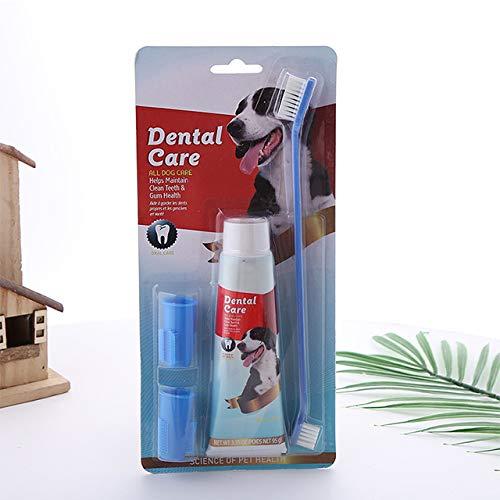 Dog Dental Care Pet Toothpaste Toothbrush Set, Dog Toothpaste Set, Pet Grooming