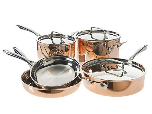 Cuisinart 8-Piece Tri-Ply Copper Cookware Set