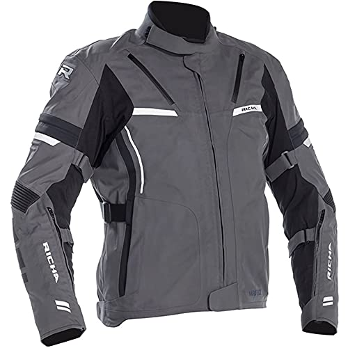 Richa Motorradjacke mit Protektoren Motorrad Jacke Arc GTX Textiljacke grau 3XL, Herren, Tourer, Ganzjährig