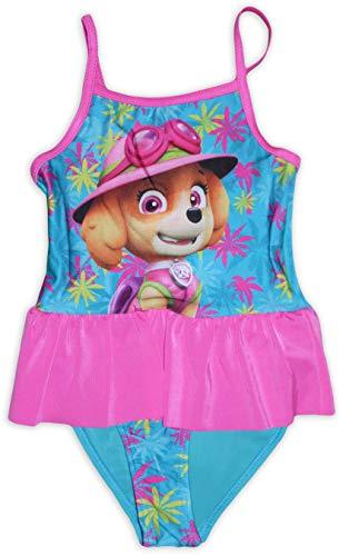Paw Patrol Mädchen Badeanzug Gr. 5-6 Jahre, Rosa (Skye)