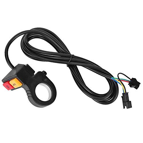 Interruptor de Botón de control de Agarre del Manillar 2 En 1, Interruptor de Bocina para Faros de Motocicleta para La Mayoría de Las Bicicletas Eléctricas