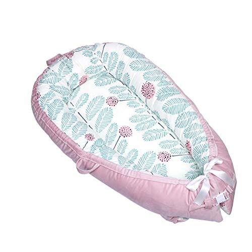 Y-nest Stubenwagen Bett,Bio-Baumwolle Und Füllung,100% Baumwolle, Antiallergisch Für Babys 0 Bis 36 Monate,Verwendung Als Kinderbett, Spielkissen, Mobiles Kinderbett,A