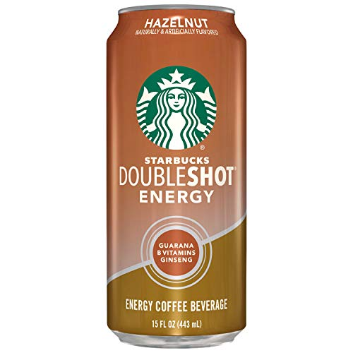Starbucks Double Shot Energy Espresso Coffee Beverage, Hazelnut, 15 oz Can