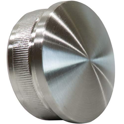 Edelstahl Endkappen Rohrverschluss Stopfen gewölbt 42,4 x 2 mm aus v2a aisi304