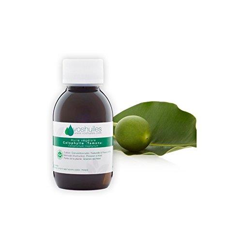Huile Végétale de Calophylle – Tamanu - 100% Pure et Naturelle – Possède de Nombreuses Propriétés en Aromathérapie – Utilisation Cutanée – Pression à Froid – 100ml - VOSHUILES