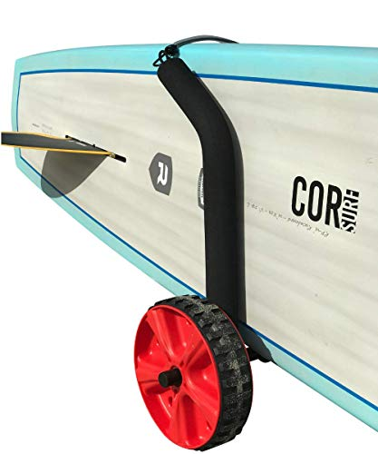 COR Surf Adjustable Stand Up Paddleboard Cart   Easily Adjusts for Any Sized SUP   Lightweight Dolley with Easy to Use Beach Wheels