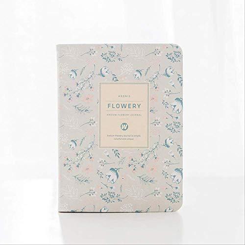 Calendario anual vintage floral semanal diario diario mensual planificador diario organizador de papel cuaderno A6 agenda beige