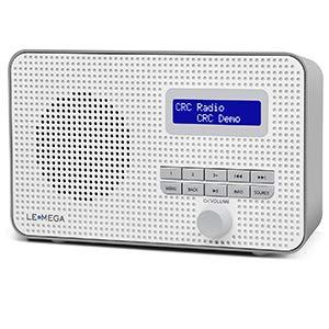Radio Digital portátil LEMEGA DR1 Dab/Dab + / FM, Reloj de Alarma Dual, Temporizador de Cocina/Reposo/repetición, Salida de Auriculares, batería y alimentación por USB, Radio portátil - Gris