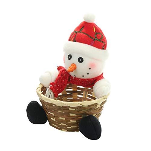 YLJY Frutero Tienda de Dulces de Navidad cestas de Dulces, Canasta de Regalo sección de Santa Claus Decoraciones caseras Mantiene Las Frutas y Verduras Frescas (Color : S)