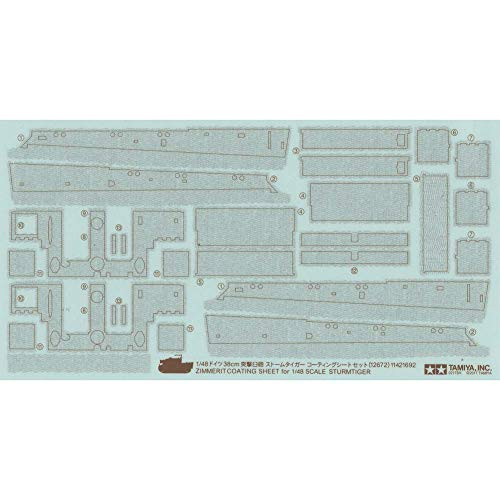 Tamiya 12672 Detail Up Parts Zimmerit Coating Sheet Sturmtiger