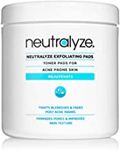 Neutralyze Exfoliating Pads | Maximum Strength Acne Treatment Pads With 2% Salicylic Acid + 1% Mandelic Acid + Nitrogen Boost Skincare Technology (100 Pads)