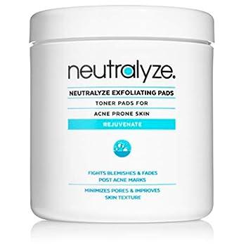 Neutralyze Exfoliating Pads - Maximum Strength Acne Treatment Pads with 2% Salicylic Acid + 1% Mandelic Acid + Nitrogen Boost Skincare Technology  100 pre-soaked acne wipes