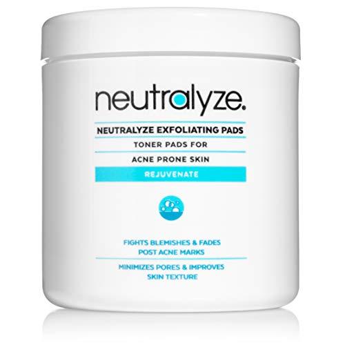 Neutralyze Exfoliating Pads - Maximum Strength Acne Treatment Pads with 2% Salicylic Acid + 1% Mandelic Acid + Nitrogen Boost Skincare Technology (100 pre-soaked acne wipes)