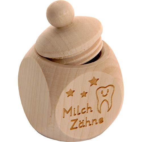 Spruchreif PREMIUM QUALITÄT 100{c1cd50ab56cd59f193ff9ba9935802967294b200e60164de87c5d7dd8778a125} EMOTIONAL · Milchzahndose aus Holz mit Schraubdeckel und Gravur · Kinder Zahndose für Milchzähne zur Aufbewahrung perfekt als kleines Geschenk · Zahnfee