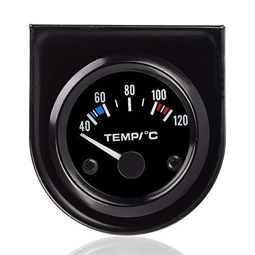 Maso Wassertemperaturmessgerät, universal, 12V, 40-120 °C, LED-Digitalanzeige, automatische Temperaturanzeige