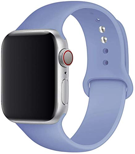 MAIDEN Correa de silicona compatible con Apple Watch Band 44 mm, 40 mm, 38 mm, 42 mm, correa de goma compatible con Iwatch Series 5 4 3 SE 6