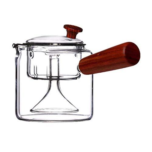 Hemoton Tetera de Vidrio de 410Ml Tetera de Té Resistente Al Calor Infusor de Estufa Tetera con Infusor de Té Suelto Microondas Lavavajillas Seguro para La Oficina en Casa Transparente