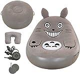 NFRMJMR Geeignet für Indoor Folding Mein Nachbar Totoro Bett Bohnenbeutel Cartoon Matratze Aufblasbare Sofa Wohnzimmermöbel PVC Flocking Bohnenbeutel Sofa mit Fußhocker (Farbe: grau) (Color : Brown)