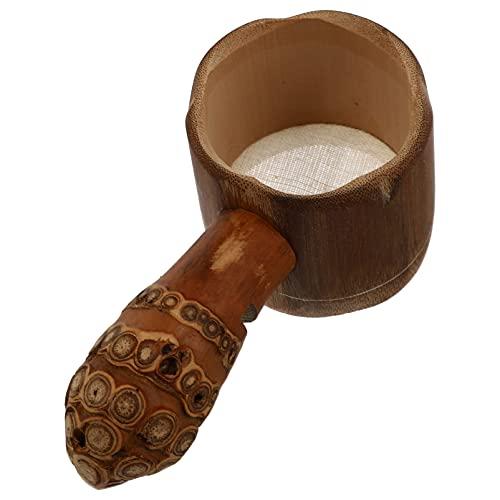 HEMOTON Infusor de Té con Coladores de Madera Hanlde Filtro de Té de Madera Japonés Accesorio de Ceremonia de Té Marrón para Teteras Tazas de Elaboración de Tazas de Té Suelto