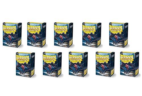 Dragon Shield Matte Black Standard Size Card Sleeves Display Box [10 packs]