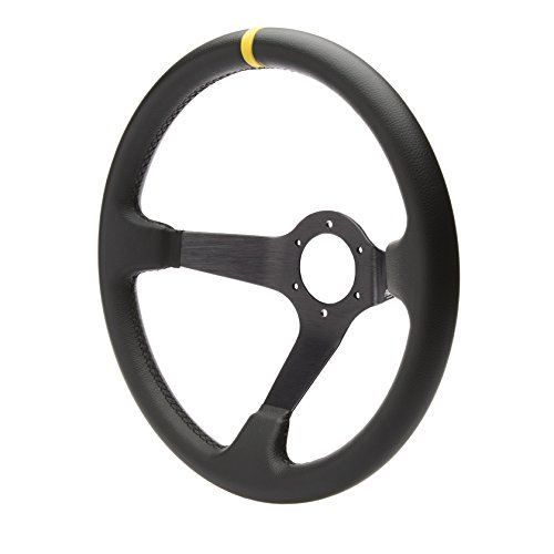 SIMONI RACING CAR/350P Sportlenkrad Carrera 350 mm, Black, Schwarz/Gelb