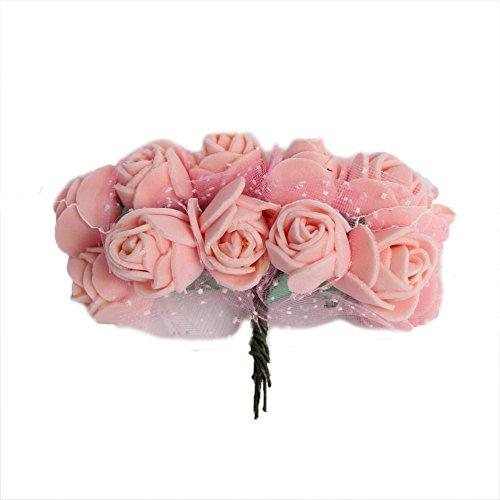 JUSTFOX - Rose bruiloftsstekker voor de bruidegom getuige of gasten in crème of roze