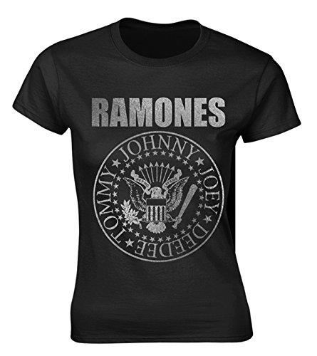 Ladies The Ramones Seal Punk Rock Heavy Metal offiziell Frauen T-Shirt Damen (Medium)