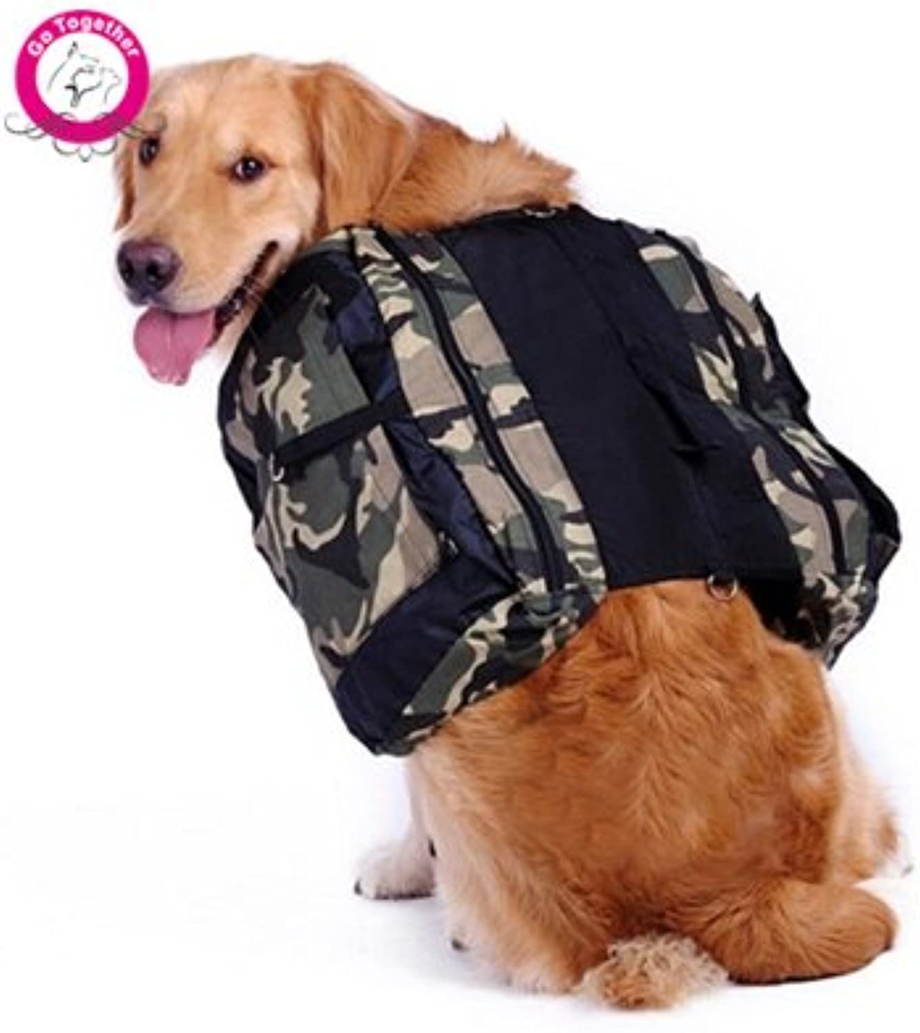 WeMore (TM) Army Green Pet Carriers Large Dog Backpack MultiFunctional Saddle Food Toy Bag for Dogs Outdoor Hiking Travel Bag