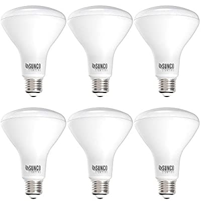 Sunco Lighting 6 Pack BR30 LED Bulb, 11W=65W, 6000K Daylight Deluxe, 850 LM, E26 Base, Dimmable, Indoor Flood Light for Cans - UL & Energy Star