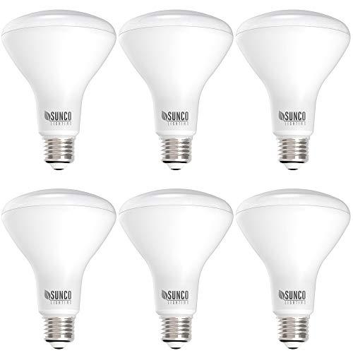 Sunco Lighting 6 Pack BR30 LED Bulb 11W=65W, 2700K Soft White, 850 LM, E26 Base, Dimmable, 25,000 Lifetime Hours, Indoor Flood Light for Cans - UL & Energy Star