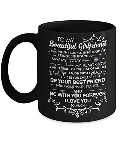 aan mijn mooie vriendin mok Be yiur beste vriend Houd je hand kus je en wees voor altijd bij je Ik hou zoveel van je - 11oz koffiemok