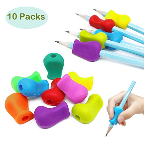 100 St/ück Verschiedene Farben Ergonomischer Stifthalter f/ür besseres Schreiben und Kontrolle